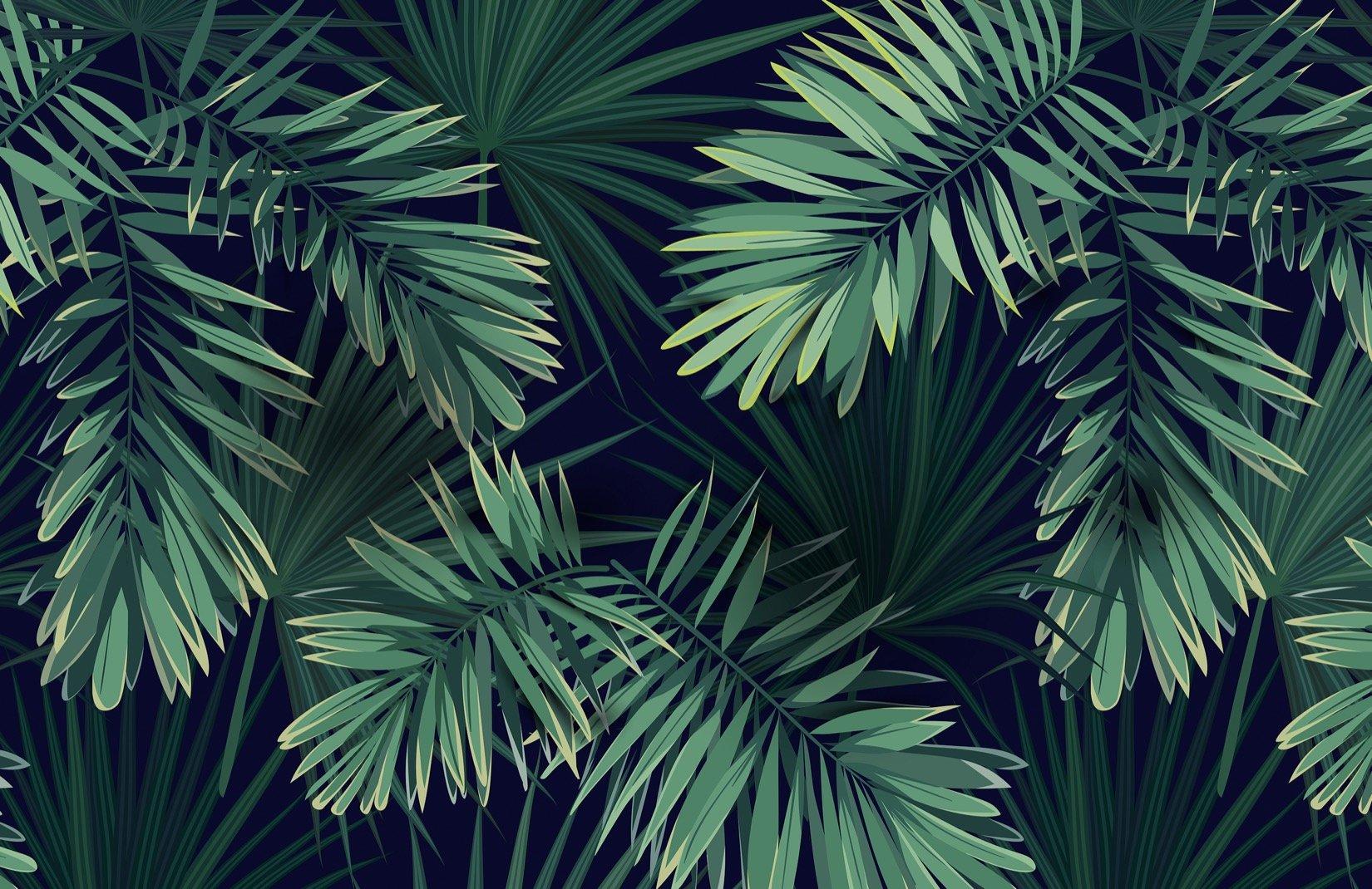 Tropical Green Plant Wallpaper Mural Murals Wallpaper 1650x1070