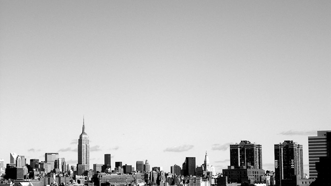 new york city desktop wallpaper black and white