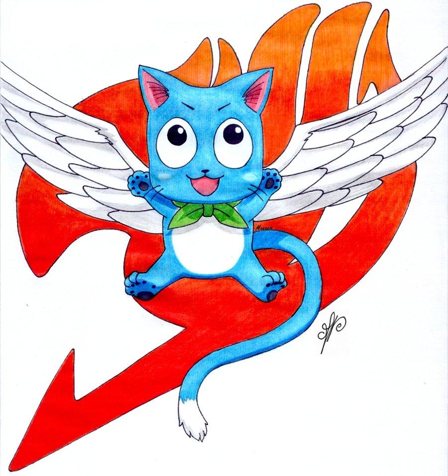 Happy   Fairy Tail by Menanie605 900x955