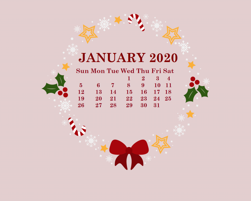 January 2020 HD Calendar Wallpaper in 2019 January wallpaper 1024x819