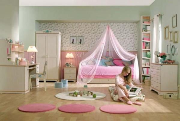 Bedroom Wallpaper Ideas for Girls in Pink Rose Bedroom Wallpaper 600x403