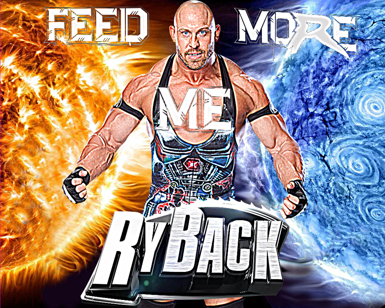 Creation Studio WWE Ryback Feed Me More Wallpaper 1280x1024