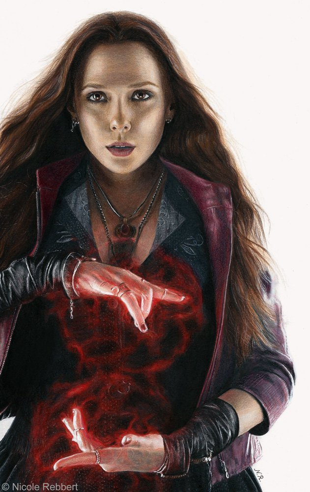 Scarlet Witch drawing by Quelchii 631x1000