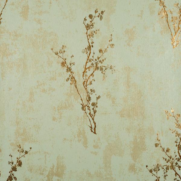 Green and Copper Zen Wallpaper   Wall Sticker Outlet 600x600