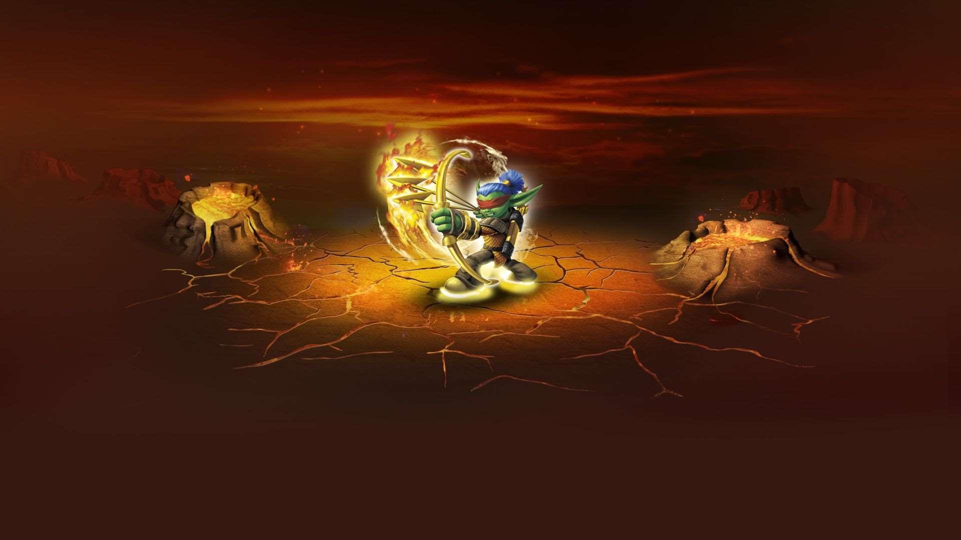 Skylanders Drobot Stump Smash Flameslinger   PC PS3 Xbox 360 Wii 1920x1080