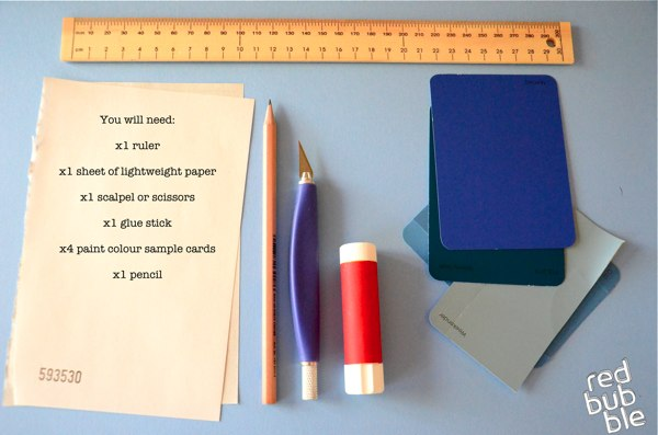 Tutorial DIY Flash Diffuser Made From Paint Sample Cards 600x397