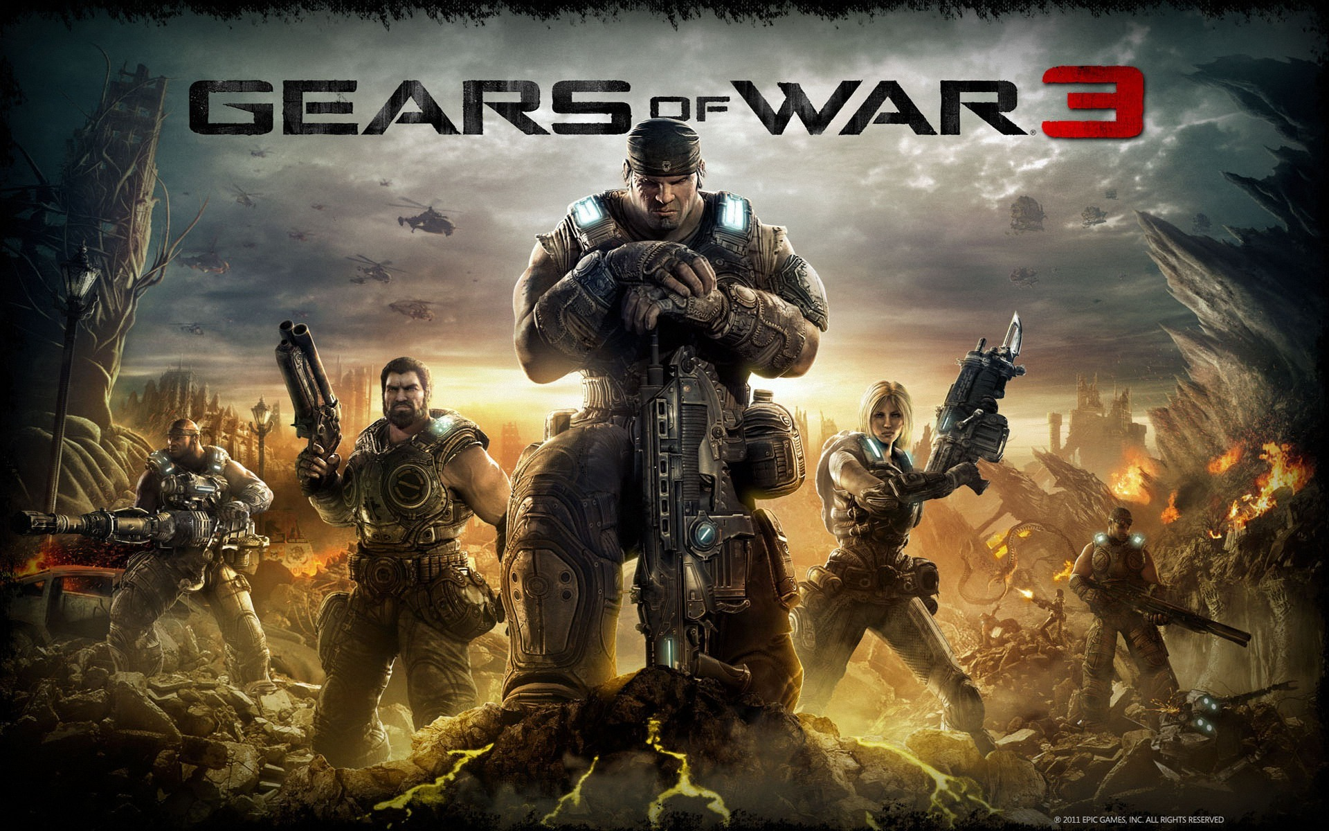 Gears Of War 3 Background wallpaper   788137 1920x1200