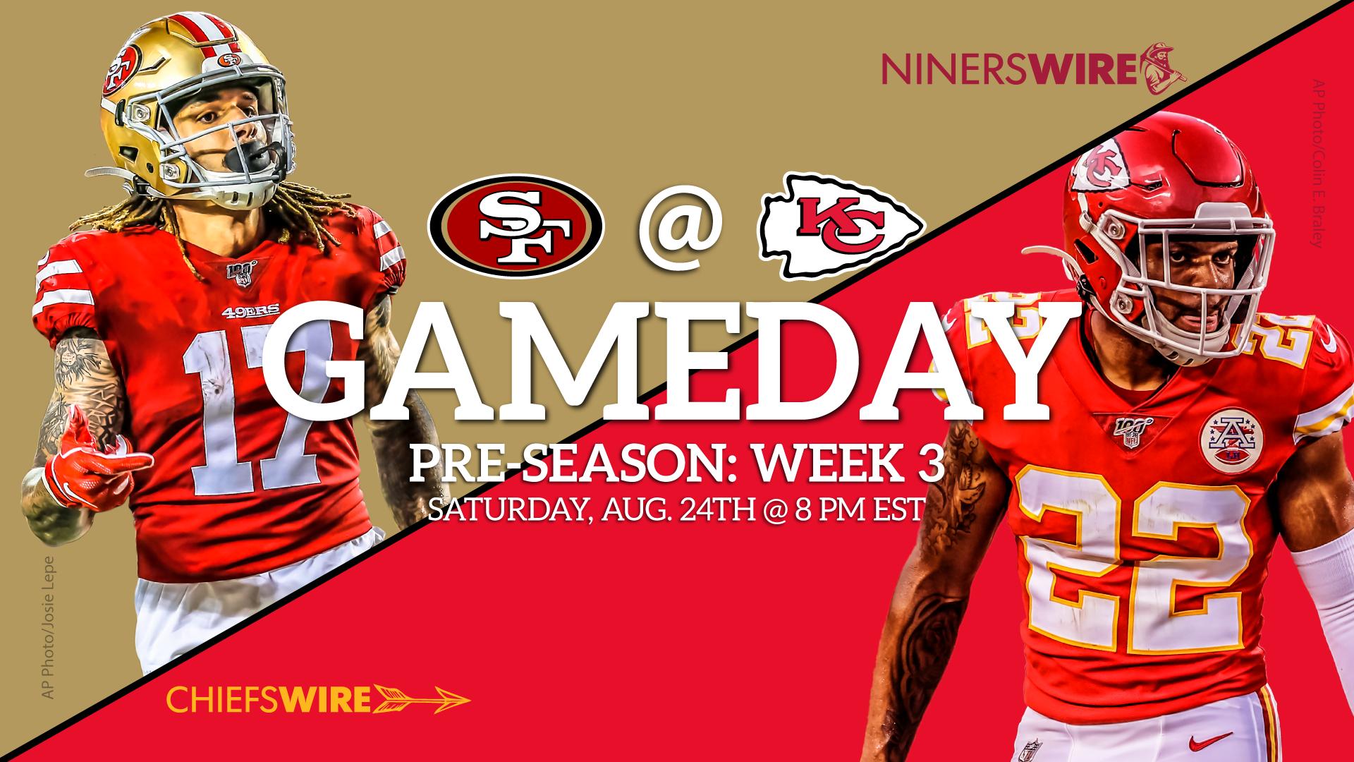 Chiefs vs 49ers Time TV streaming for preseason Week 3 1920x1080