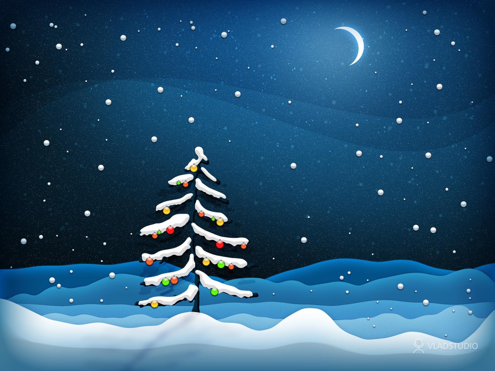 Christmas Tree Nature wallpaper   Desktop Wallpaper 1600x1200