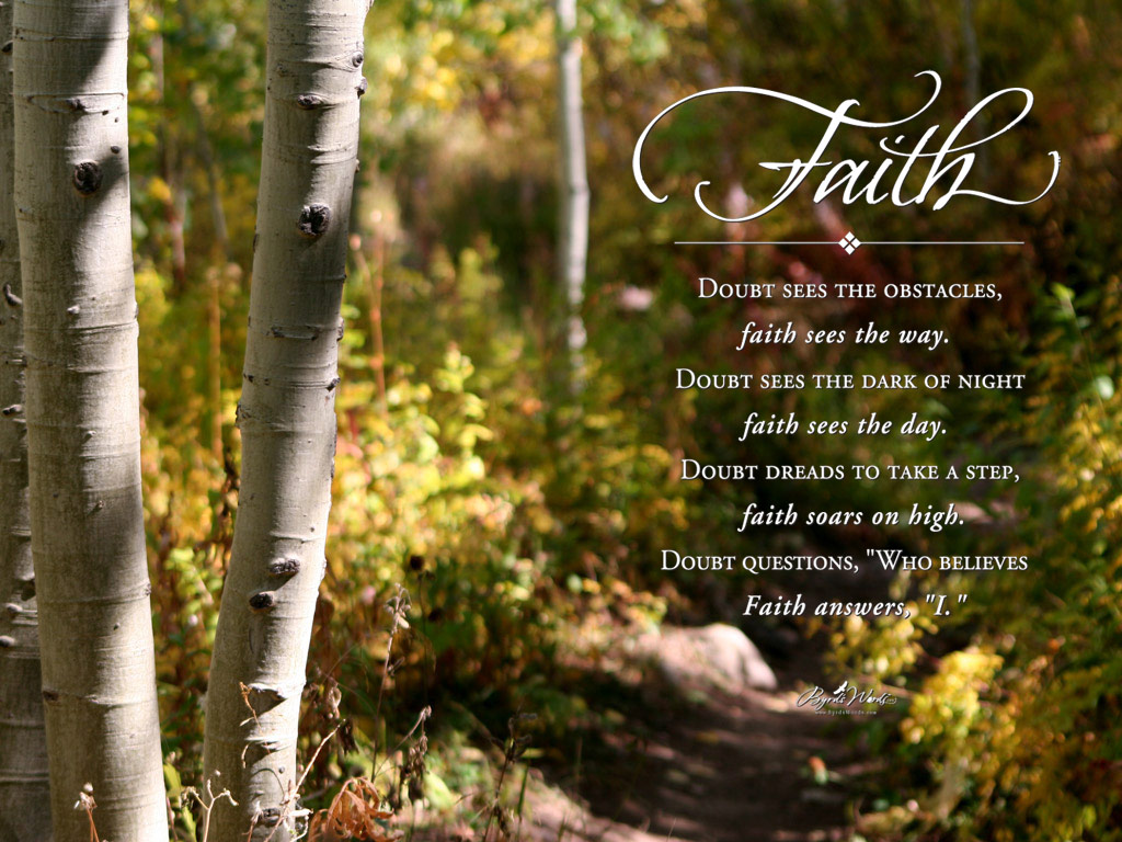 Download faith doubt sees the obstacles faith sees the way doubt
