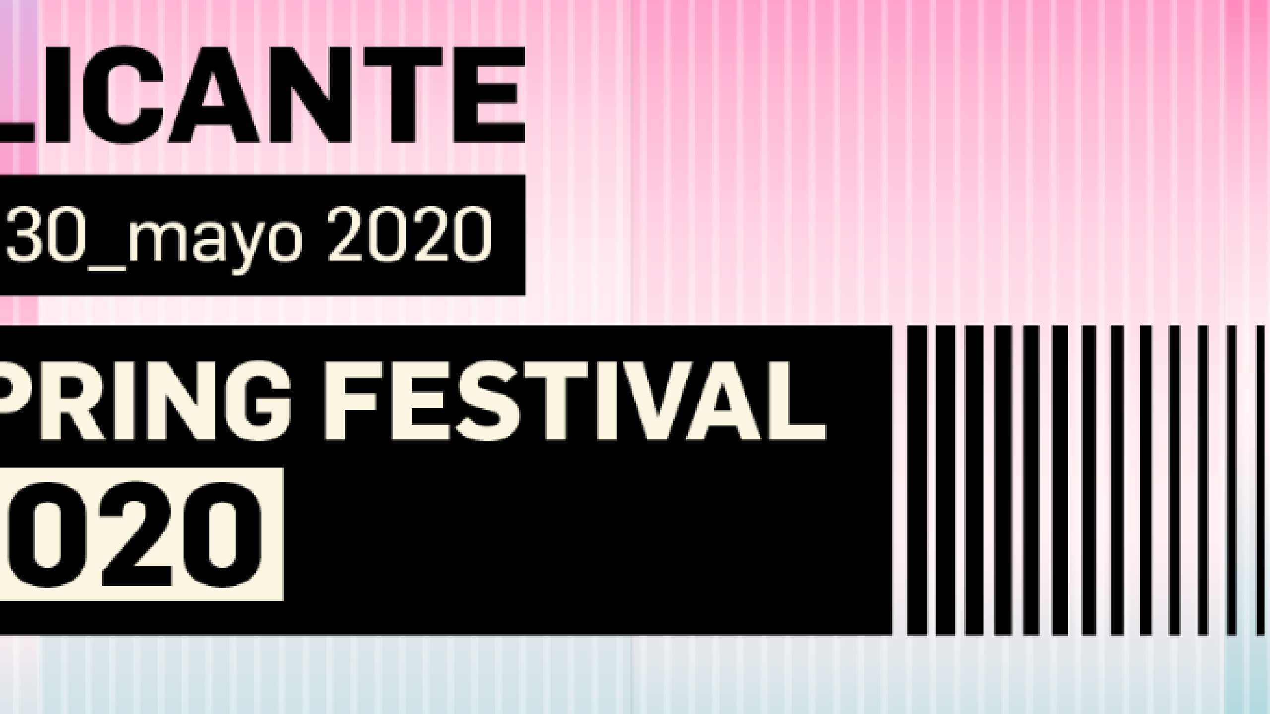 Spring Festival Alicante 2020 Tickets lineup bands for Spring 2560x1440