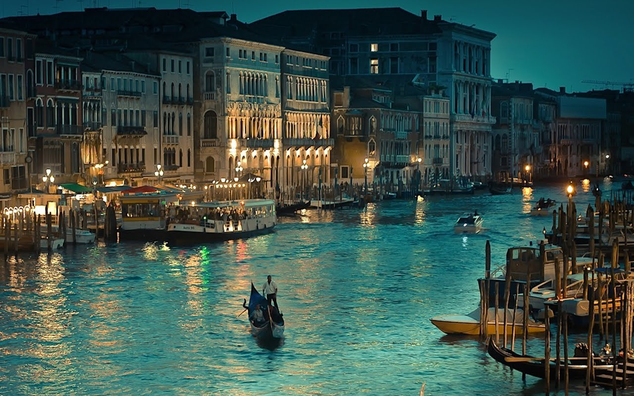 Romantic Venice At Night HD Wallpaper Background Images 1280x800