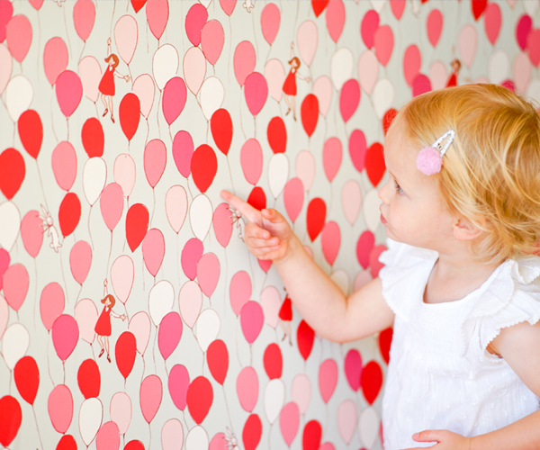Balloons Removable Wallpaper by Pop Lolli   RosenberryRoomscom 600x500