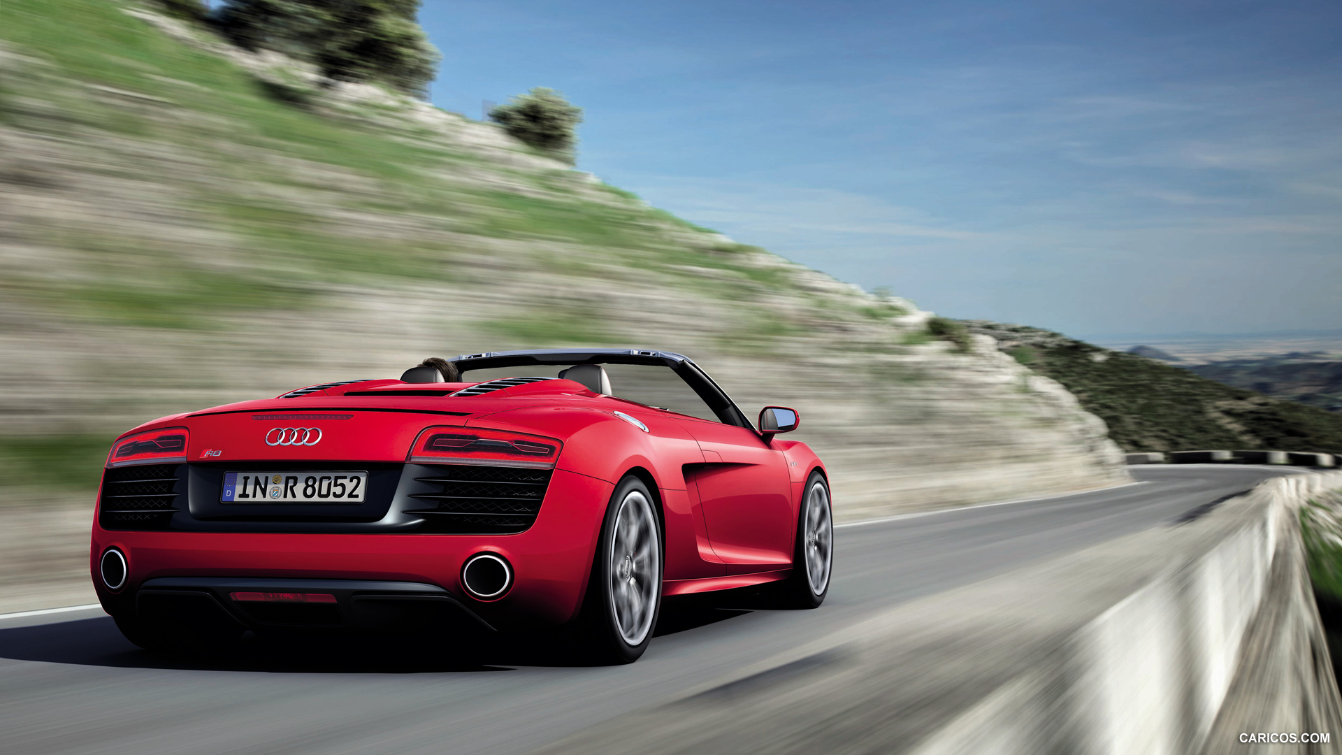 2013 Audi R8 Spyder V10   Rear HD Wallpaper 5 1920x1080