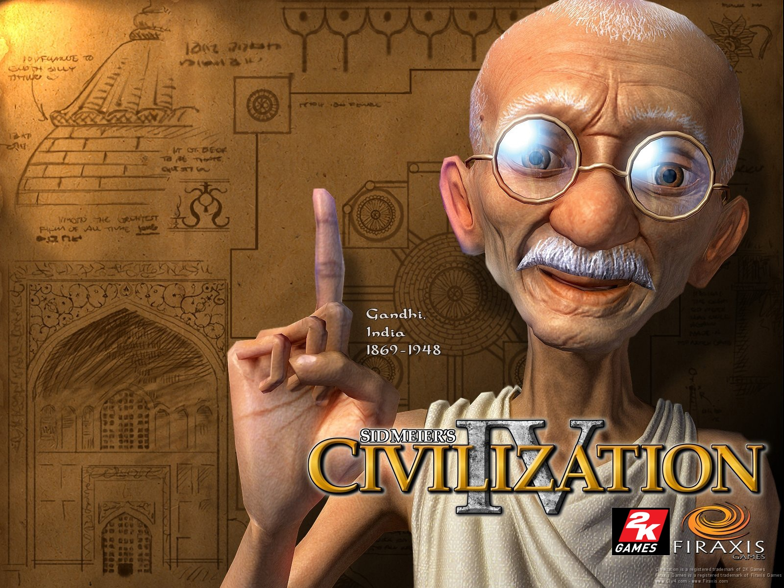 1600x1200 Ghandi desktop PC and Mac wallpaper 1600x1200