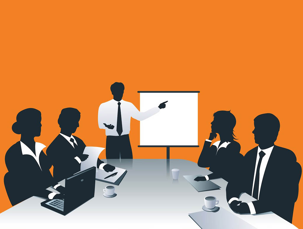 Business Presentation Meeting Background Wallpaper for PowerPoint 1024x773
