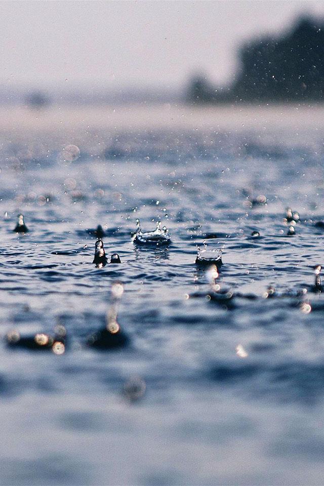 FREEIOS7 summer raindrops   parallax HD iPhone iPad wallpaper 640x960