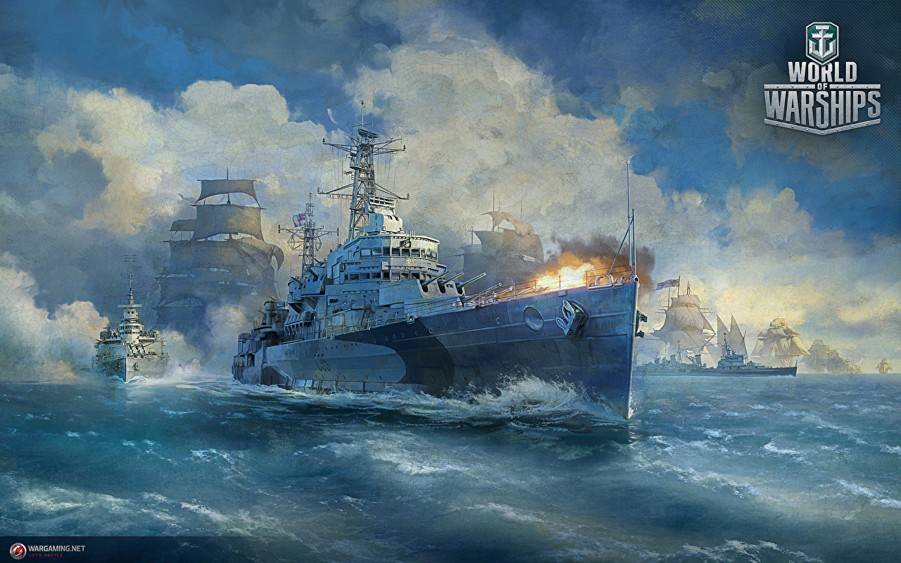 Wallpaper World Of Warship Firing British Cruiser HMS Belfast ship 1280x800