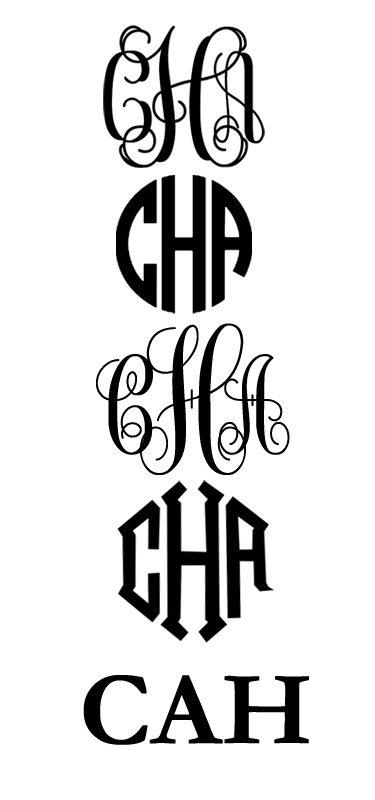 getting your monogram From top to bottom in this image you can 375x800