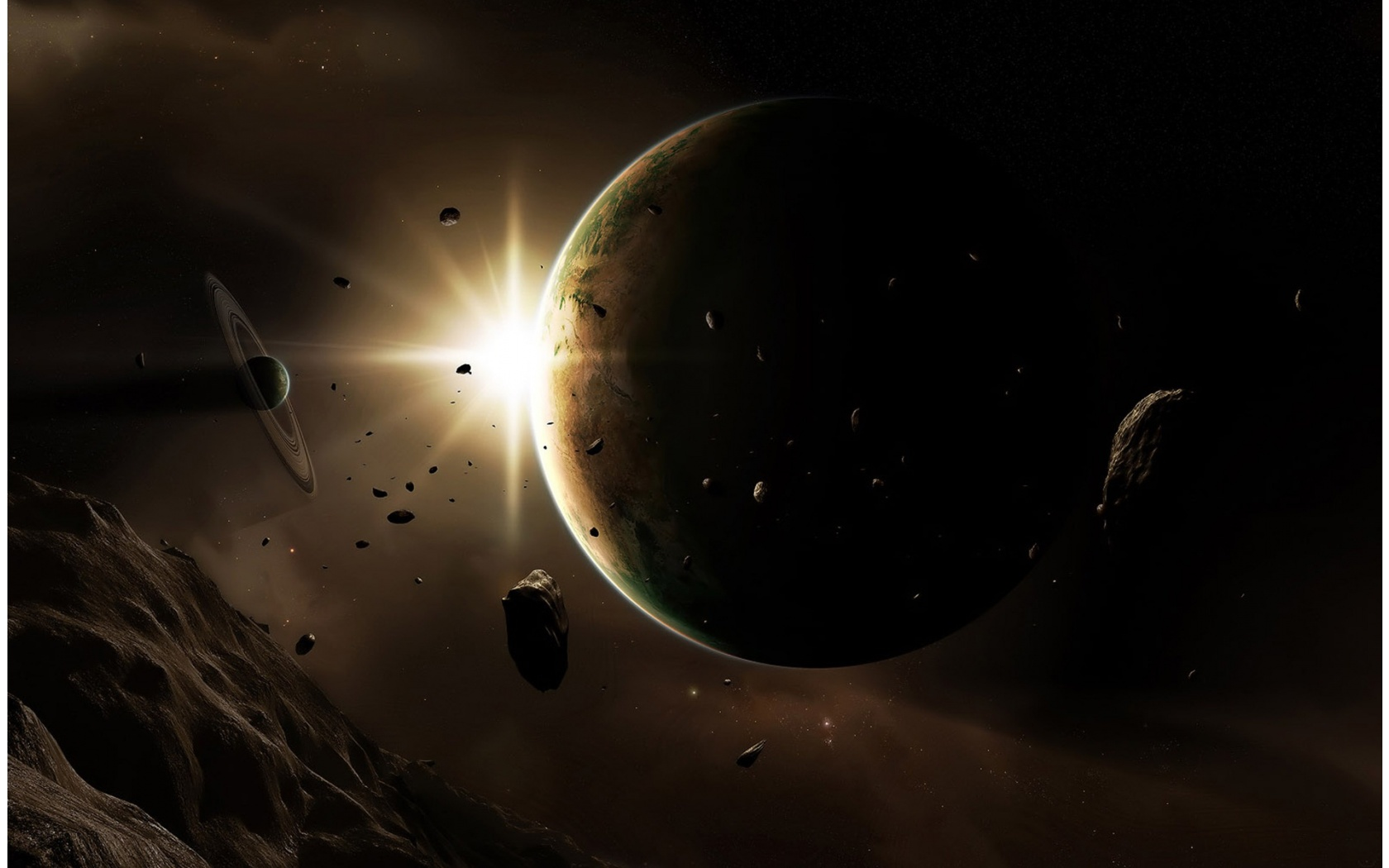 Outer Space Planets Rocks 1680 x 1050 Download Close 1680x1050