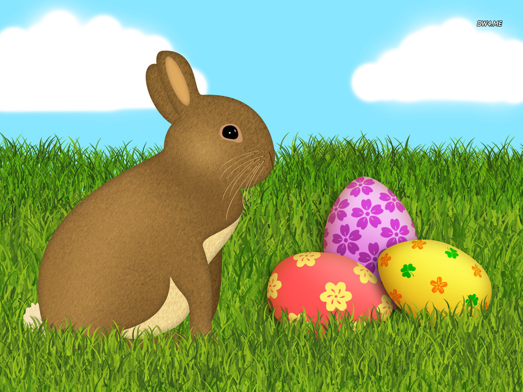 Easter bunny and eggs wallpaper   Holiday wallpapers   1265 1024x768