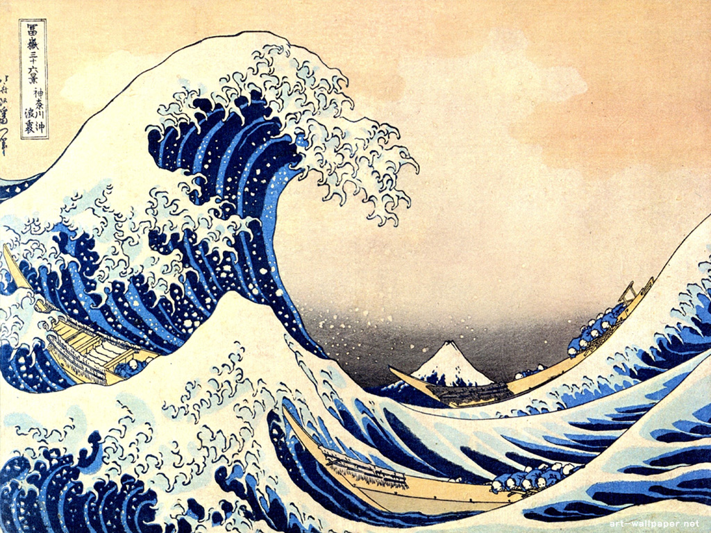 Hokusai Wallpaper 1024x768
