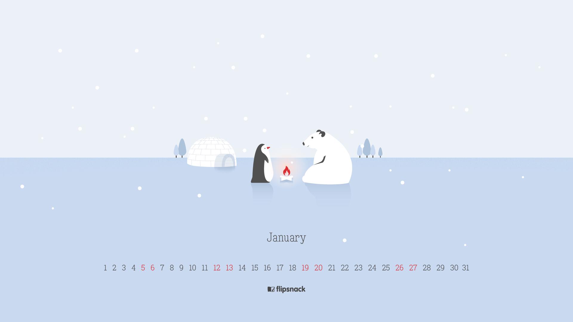 January 2019 wallpaper calendars   Flipsnack Blog 1920x1080
