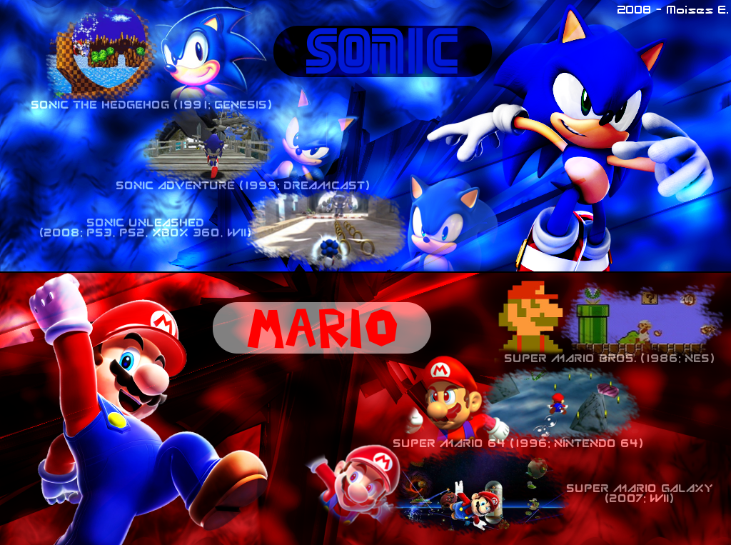 Sonic And Mario Wallpaper Wallpapersafari