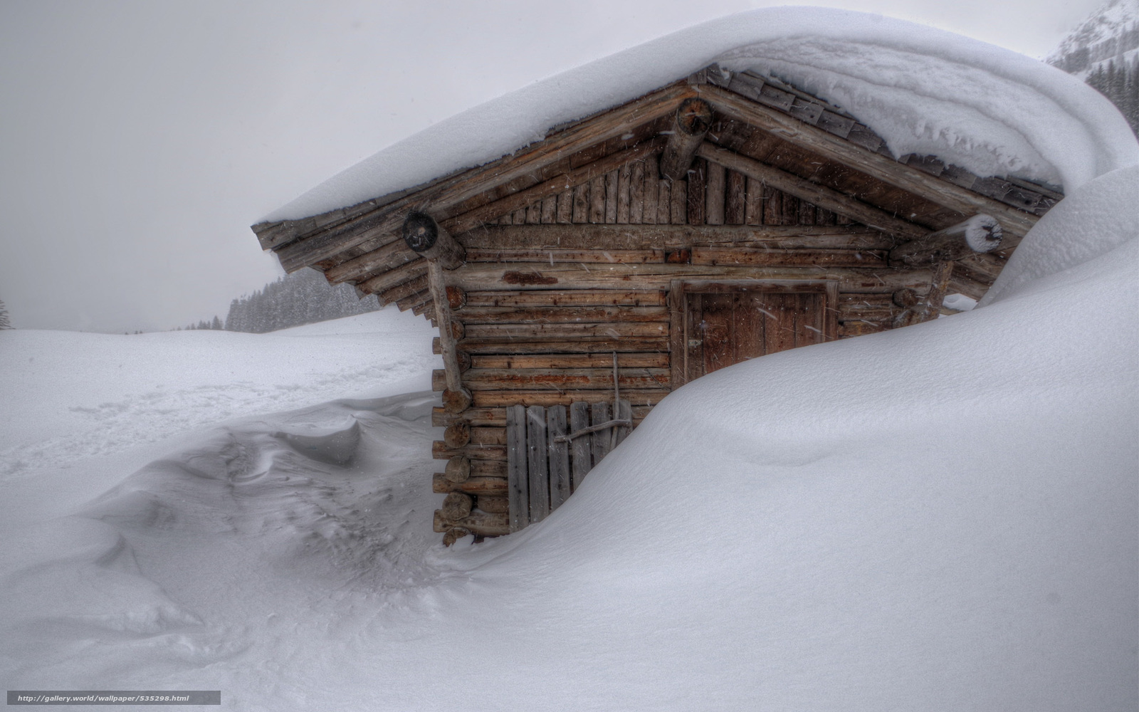 Download wallpaper winter drifts snow cabin desktop wallpaper 1600x1000