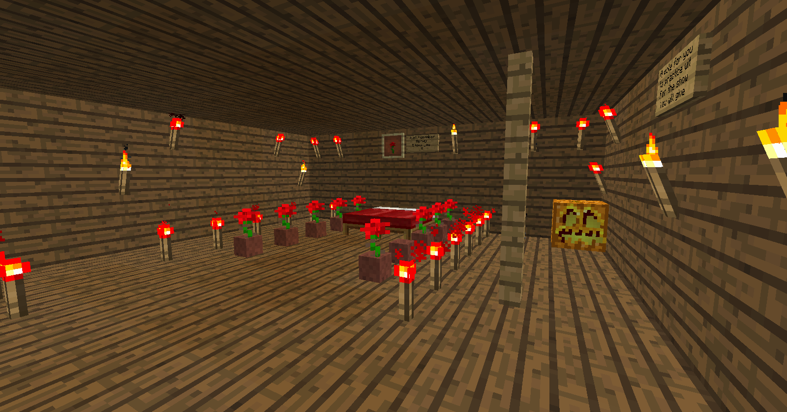 Crazy World [Game] Romantic room in Minecraft PRIVATE server 1600x838