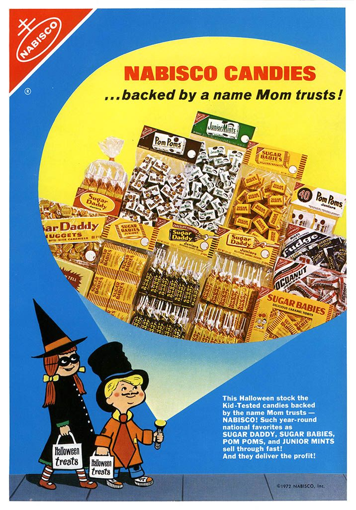 Pin on Vintage Halloween Candy ads 716x1024