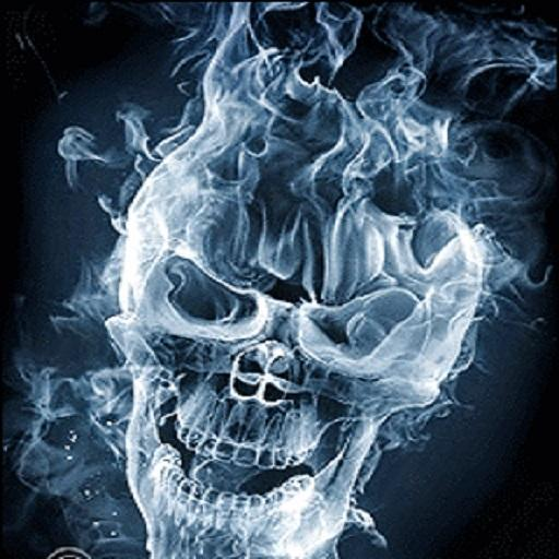 Smoke Skull Wallpaper Smoking Skull Live Wallpaper 512x512
