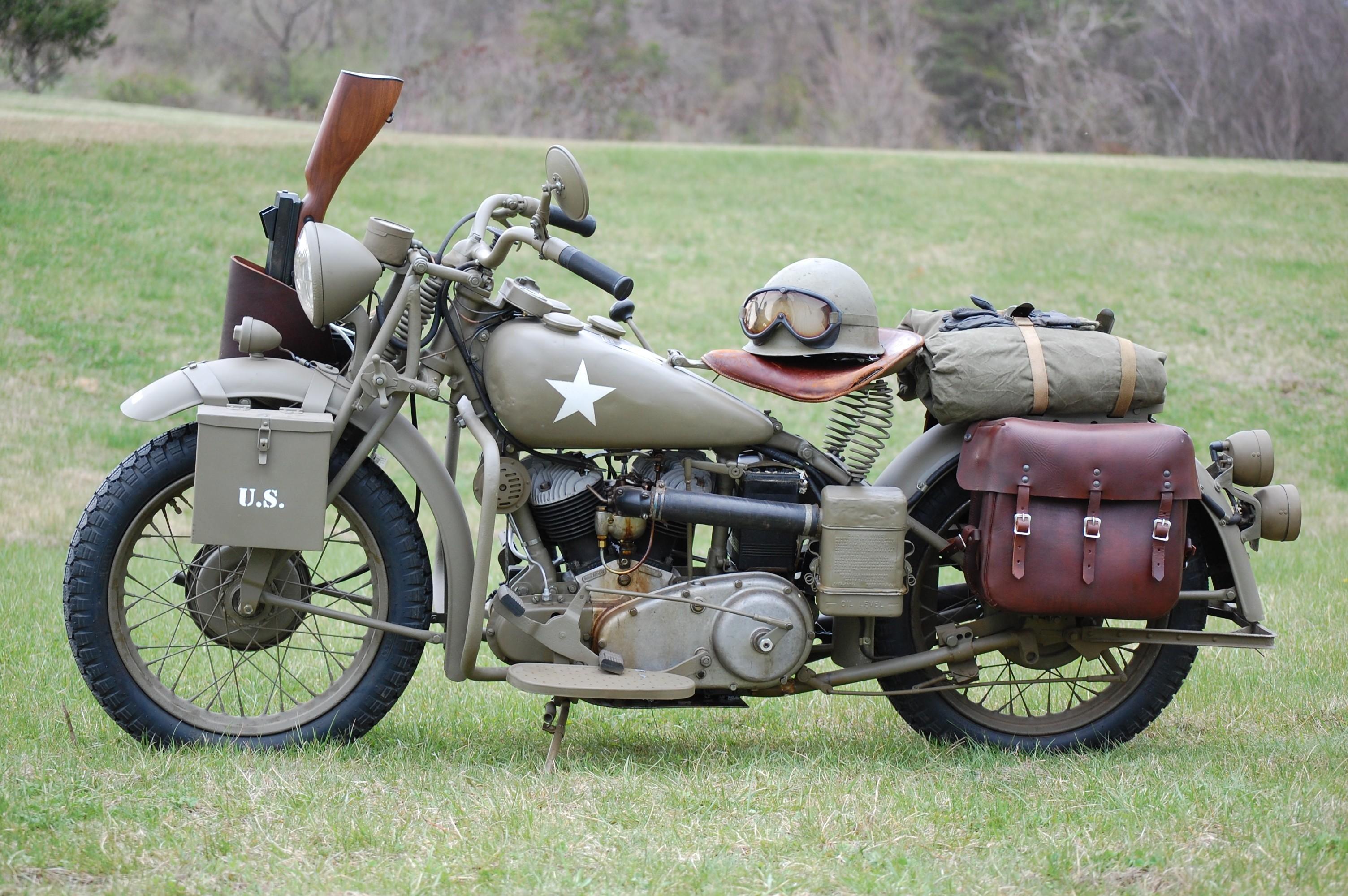 World war ii motorcycles oldschool wallpaper 3008x2000