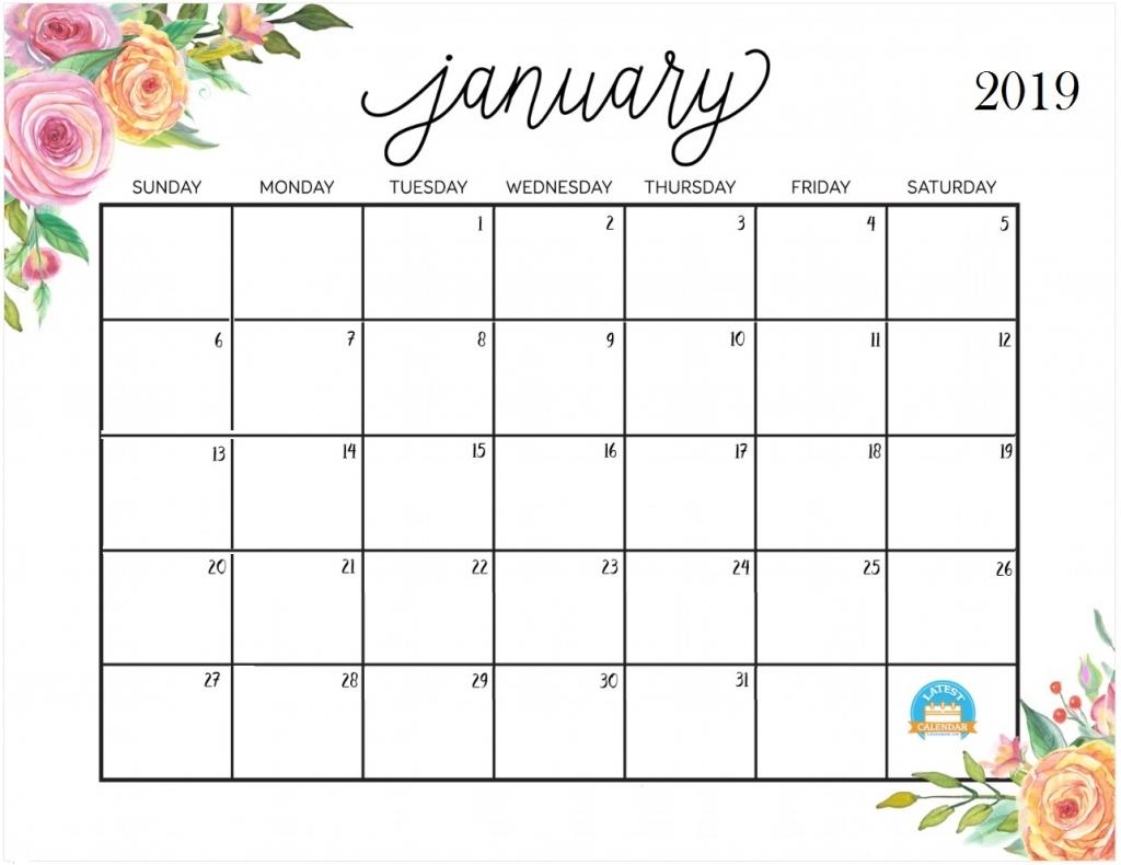 January 2019 Calendar For Desktop 2018 Calendar Printable 1024x790
