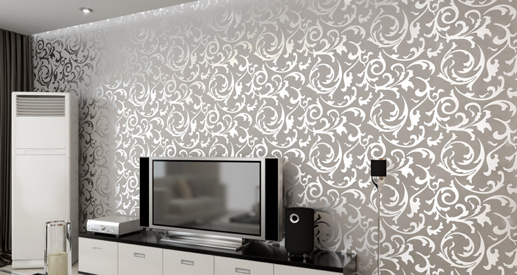 China Fashionable PVC Wall Paper 53CMX100CM Wallpaper for living room 750x400