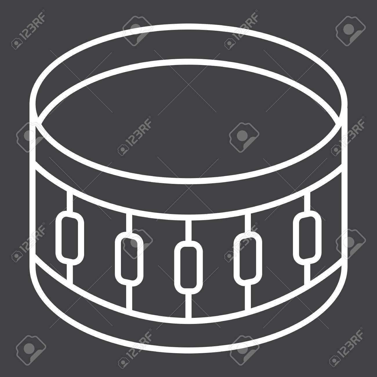 Sanre Drum Line Icon Music And Instrument Beat Sign Vector 1300x1300