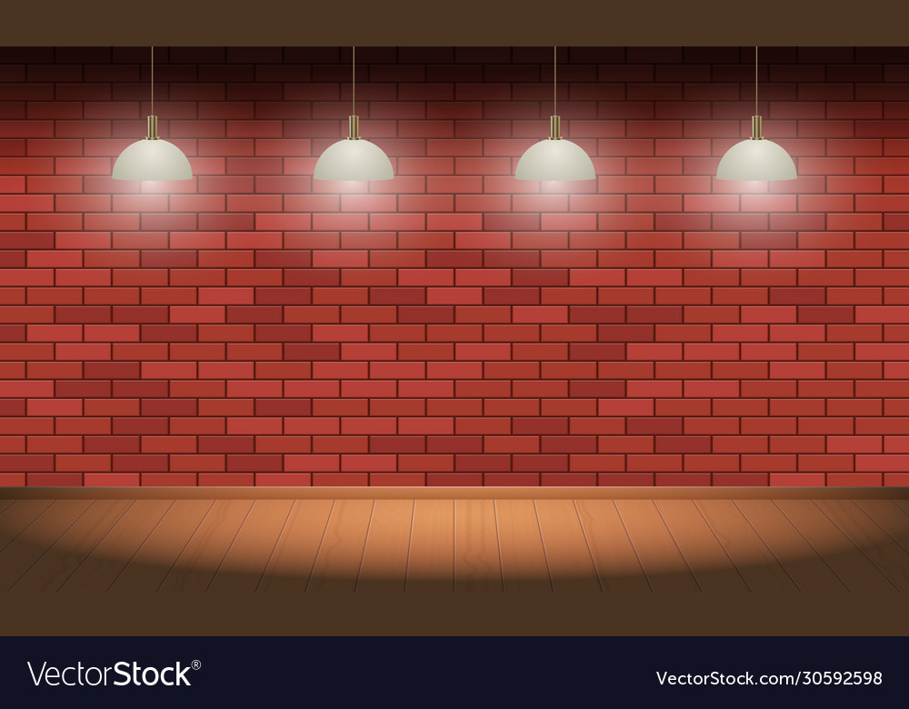 Brick wall and wooden floor background Royalty Vector 1000x780