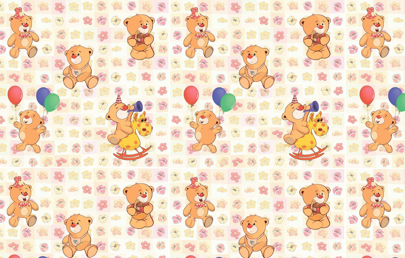 Wallpaper background texture art bear childrens images for 1332x850