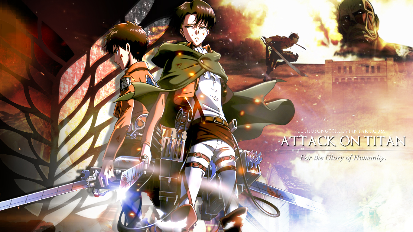 Attack on Titan Wallpaper III 1366x768 by echosong001 1366x768