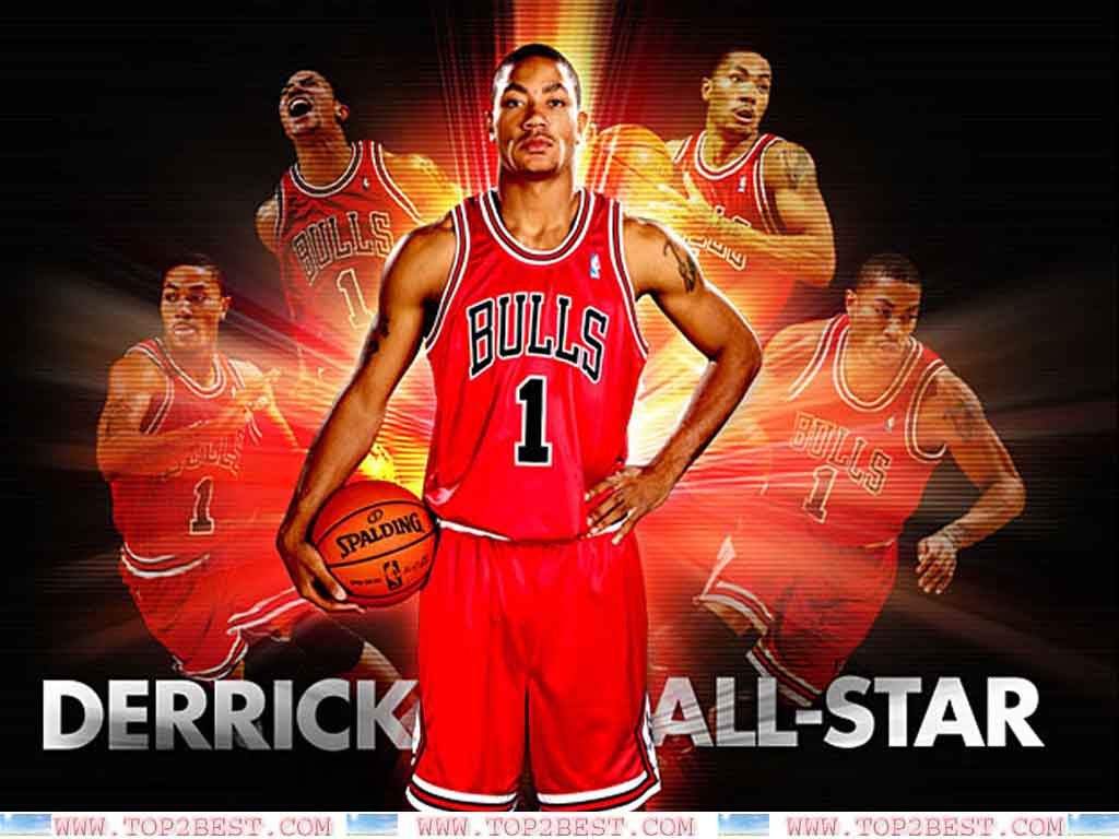 Derrick Rose 2012 Wallpaper 1024x768