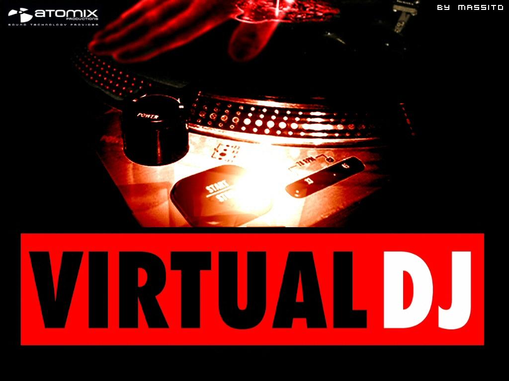 Virtual DJ   Vermelho e preto Papel de Parede   Wallpaper 1024x768