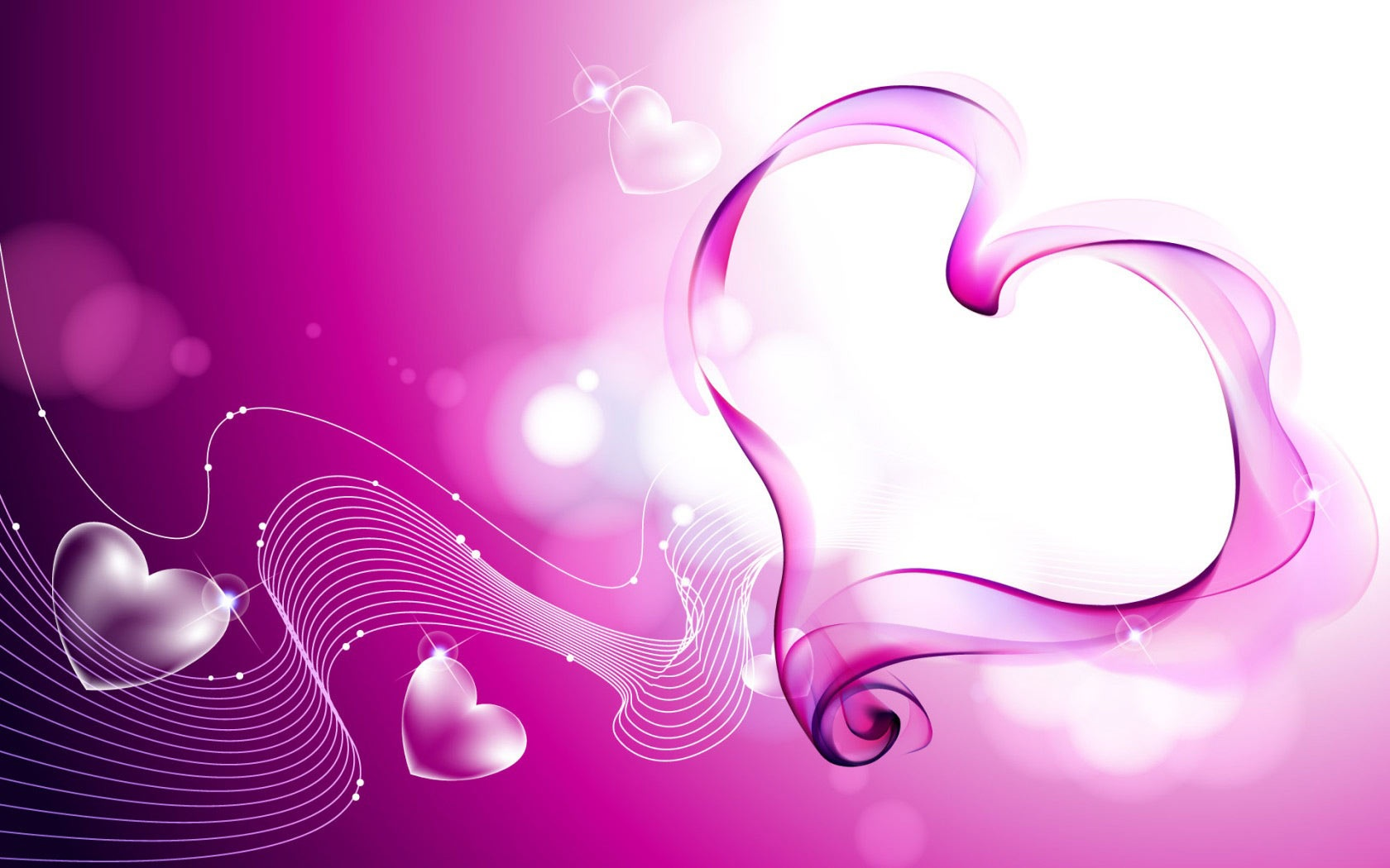 Pink Love Hearts Smoke Wallpapers HD Wallpapers 1680x1050