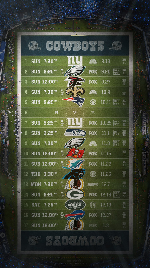 2015 NFL Schedule Wallpapers   Page 2 of 8   NFLRT 576x1024