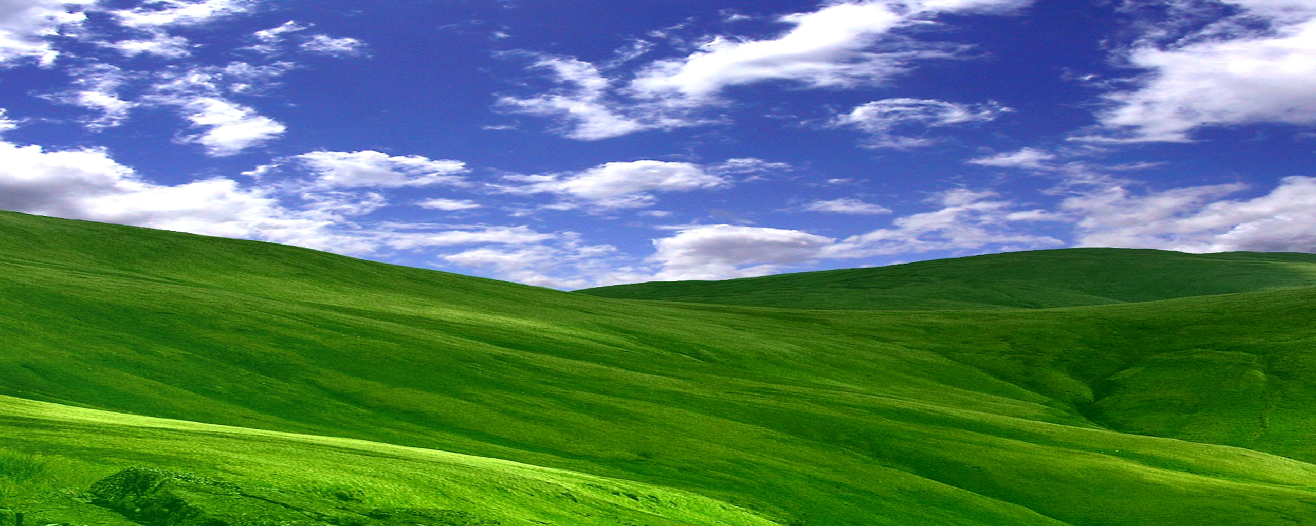 dual screen wallpaper Cloudy World 2560x1024
