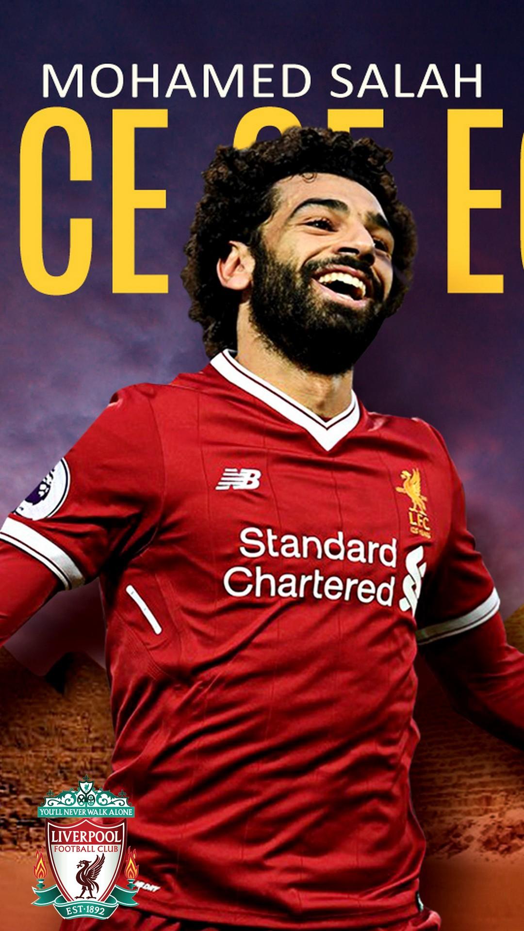 iPhone X Wallpaper Mohamed Salah Liverpool 2019 3D iPhone Wallpaper 1080x1920