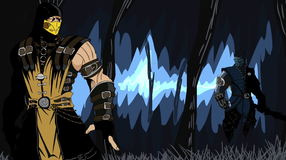 Scorpion and Sub Zero MK X by tekkenrocker 1191x670