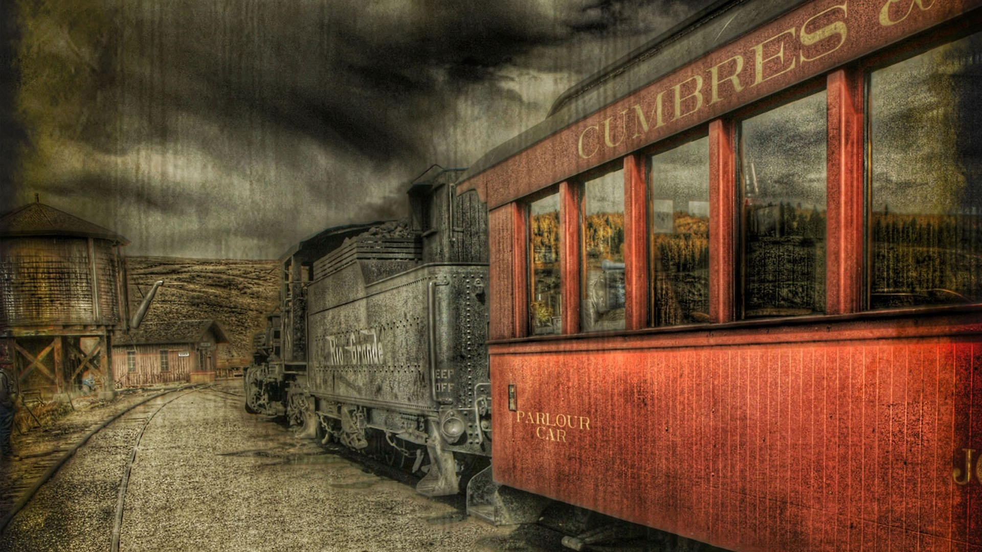Vintage train wallpaper 5054 1920x1080