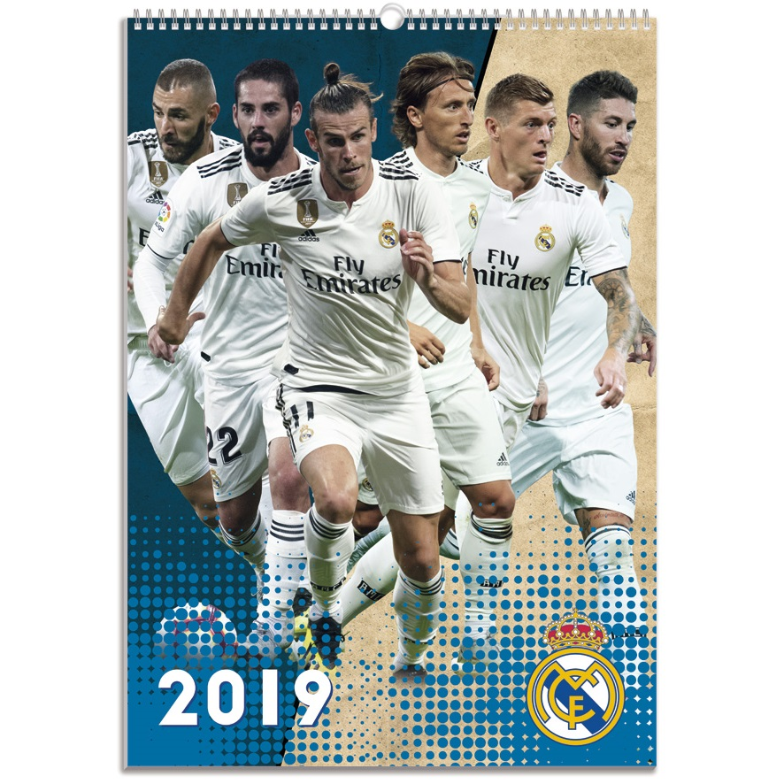 Buy 2019 Real Madrid Calendar online at SoccerCardsca 886x886