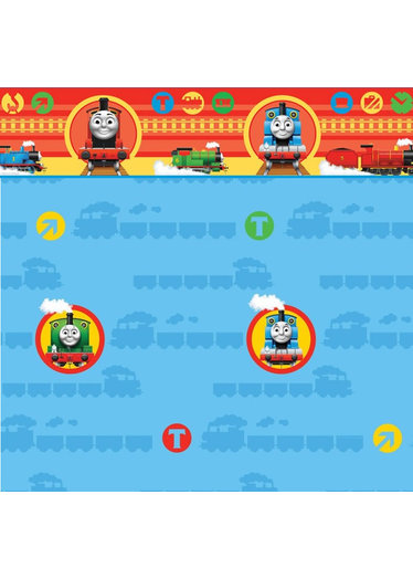 Childrens Rooms Thomas the Tank Engine Thomas Wallpaper Border 374x524