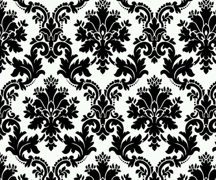 Damask Wallpaper Put On Ceiling Black Walls More 720x600